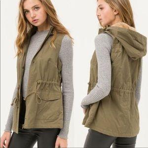 NWOT Love Tree Faux Fur Utility Vest